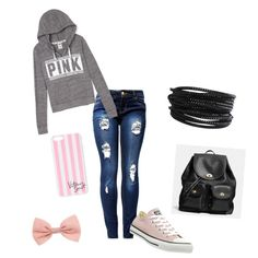 school wear by foreverfearliss on Polyvore featuring polyvore fashion style Converse Coach Pieces Victoria's Secret