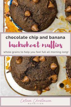 Buckwheat Muffins, Buckwheat Bread, Buckwheat Recipes, Flour Recipes, Banana Bread Recipes, No Bake Desserts, Dessert Recipes, Free Recipes, Vegan Recipes