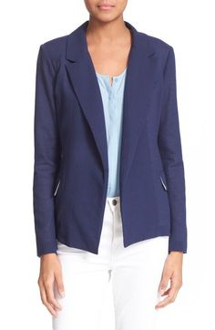 Joie 'Adona' Cotton & Silk Blazer (Nordstrom Exclusive) available at #Nordstrom