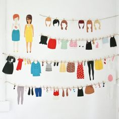 Sticker dress up dolls, for those days when you need to make a fashion statement!