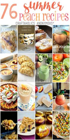 76 of the best Peach Recipes for summer! | Craftaholics Anonymous®