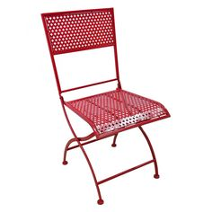 STAMPED FOLDING RED CHAIR RED