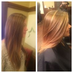 Hair painting...creating a soft blonde color