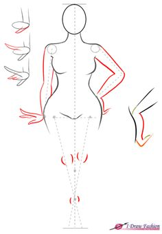 How to draw plus size fashion figure step 7 How to draw plus size figure