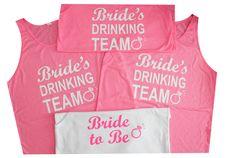 www.BridesmaidTank.com Drinking, Bride, Tank Tops, Sports, Wedding, Fashion, Drinks, Hs Sports, Mariage
