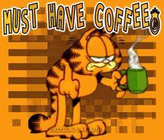 I Love Coffee, My Coffee, Coffee Beans, Morning Coffee, Good Morning, Coffee Pics, Coffee Corner, Garfield Quotes, Garfield Cartoon
