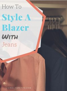 Blazers are back in style. On the blog I am showing you how style your favorite blazer with a cute pair of jeans for a fun look for drinks out with friends or even your office. #blazer #petitestyle #womensblazer #outfitinspo Fall Fashion Petite, Dress Code Casual, Blazer With Jeans, Petite Outfits, Spring Looks, Black Bodysuit, Work Outfits, Workplace, Blazers