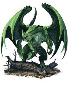 Young Green Dragon by BenWootten.deviantart.com on @deviantART