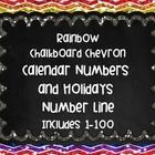 This set includes numbers 1-100. You can use as numbers on a calendar. #calendar #rainbowchalkboard #math #classdecor classroom decorations