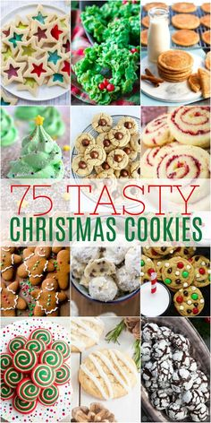 75 Tasty Christmas Cookies is certain to inspire your baking plans. Use it as a resource for all things delicious to make the season merry and bright. Chocolate Marshmallow Cookies, Chocolate Chip Shortbread Cookies, Toffee Cookies, Spritz Cookies, Christmas Cooking, Christmas Desserts, Christmas Goodies, Christmas Treats, Easy Christmas Cookies