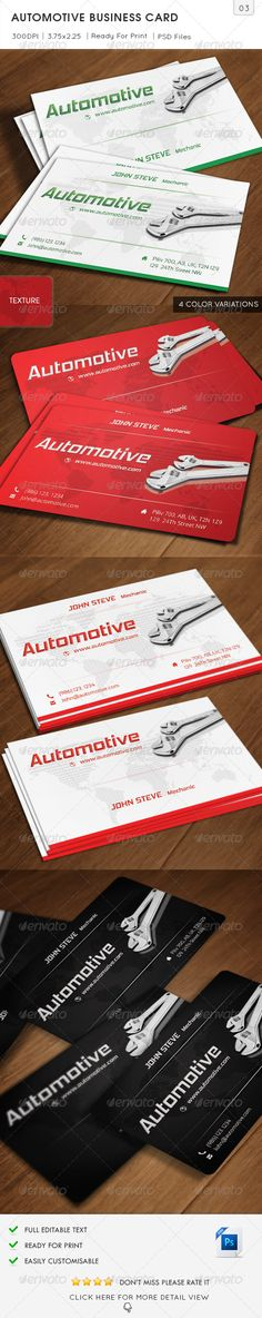 Automotive Business Card is especially for Automotive Business or Car racer and Car service type of Business or Personal use. 2 Si