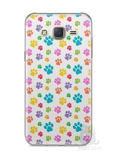 Capa Capinha Samsung J7 Patinhas Coloridas #1 - SmartCases - Acessórios para celulares e tablets :)