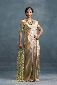 Uppada tissue saree in mixed silver and gold color with running blouse piece,handwoven uppada saree,partywear saree Silk Saree Kanchipuram, Jamdani Saree, Nalli Silk Sarees, Sabyasachi Sarees, Lehenga Saree, Anarkali, Indian Silk Sarees, Pure Silk Sarees, South Indian Sarees