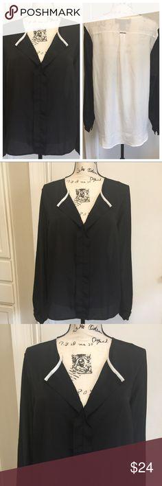 "Kardashian Kollection Sheer Top High Low High Low pullover long sleeves Sheer shirt ❣️ Pit to pit 22"" ❣️ Length 25"" ❣️ 100% polyester ❣️❤️️ Kardashian Kollection Tops Blouses"