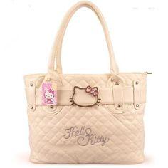 Hello Kitty cute shoulder big bag women fresh cartoon leather designer large clutches handbags