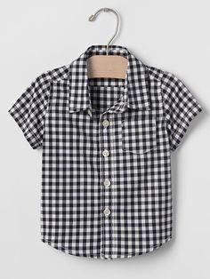 Plaid short-sleeve shirt Product Image