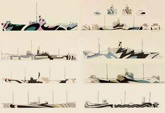 Dazzle Ship Painting Colours  --  Dazzle Camo  CUBISM AT WAR