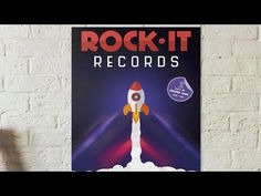 How to Design a Retro-Futuristic Record Store Poster: Photoshop Tutorial - YouTube