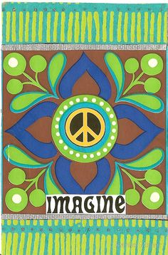 ☮ American Hippie Psychedelic Art ~ Imagine Peace