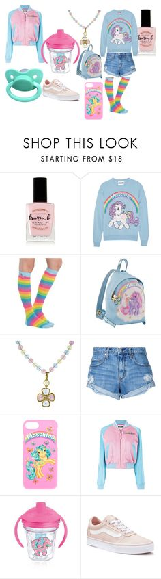 """Ponie"" by smol-moon on Polyvore featuring Lauren B. Beauty, Moschino, My Little Pony, Chanel, Nobody Denim, Tervis and Vans"