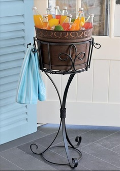 Perfect pool party companion with the Entertaining Bucket and Tray by Willow House  http://elizabethmedel.willowhouse.com/
