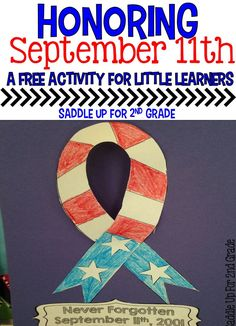 Are you looking for a fun way to honor September 11th with your young students in your classroom? This memorial ribbon craft is perfect for that. Grab this FREE resource and let your students who their pride for the USA!