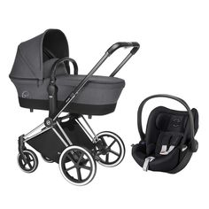 Cybex Priam Chrome/Trekking Complete Pram TS Manhattan Grey