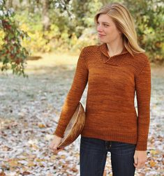 Ravelry: Nutmeg GInger pattern by Alicia Plummer. Wow! Just wow. Another beautiful sweater from this talented designer. I can't get enough of the small touches of textured stitches