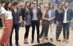 Kings of Leon and their ladies. Johanna, Matt, Martha, Jared, Jessie, Nathan, Lily and Caleb