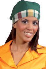 PAGAMENTO ANCHE ALLA CONSEGNA Bandana Cappello Berretto Donna da lavoro Alimentare Cuoco Abbigliamento Abiti