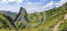 Rock formation in Ciucas mountains, Romania.