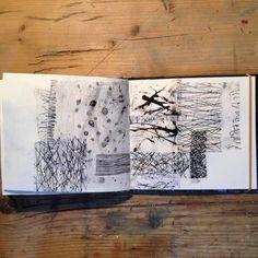 #sketchbookpages #collage #ink #workonpaper #markmaking #abstract