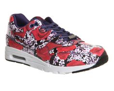 Nike Air Max 1 Ultra Moire (l) Lotc Black Red Floral London Qs -
