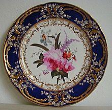 Antique Coalport Porcelain Plate painted by Thomas Brentnall C1820 $796