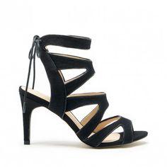 Black Caged Heel Sandal | Stella | Free Shipping on Orders $30+