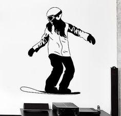 Wall Decal Snowboard Snowboarding Ski Winter Sport Vinyl Sticker (z3039)