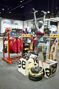 The Reebok FitHub retail concept store lets users try out products before they buy. #sports #fitness #reebok