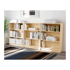 Ikea BILLY Bookcase Birch Shelving Unit Shelves Accent Furniture Storage New Long Low Bookcase, Low Bookshelves, Ikea Billy Bookcase, Bookshelves For Small Spaces, Bookcase White, Bookshelves In Bedroom, Ikea Kids Room, Bibliotheque Design, Pallet Tv Stands
