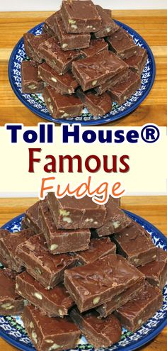 You can't beat the original. Satisfy your chocolate craving with some Toll House Famous Fudge. This Is Pretty Amazing! When it comes to sweet treats, fudge is number one at our house. It doesn't really matter what Read more. Fudge Recipes, Candy Recipes, Sweet Recipes, Dessert Recipes, Amish Recipes, Snacks Recipes, Waffle Recipes, Quick Recipes, Recipes Dinner