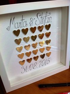 Check out paper hearts/ wedding/ gold heart/ home decoration/ St Valentines gift / anniversary present / home decor / decor/ love / gift idea on gosiaandhelena Wedding Paper, Wedding Cards, Wedding Gifts, Wedding Gold, Anniversary Gifts For Him, Wedding Anniversary Cards, 25th Anniversary, Important Dates Sign, Old Fashioned Wedding