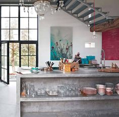 industrial chic style kitchens - Buscar con Google