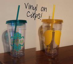 Vinyl on cups! Love these!!! @VinylExpressions