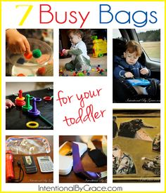 7 Busy Bags to Engage Your Toddler {12-18 months}