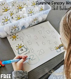Well, our penguin skill builder pack has be SUCH a hit that I recreated it in a Spring/Summer friendly version! This is probably our favorite activity printable because it touches on so many skills in an interactive way. Preschool Centers, Kindergarten Themes, Math Centers, Fun Crafts For Kids, Activities For Kids, May Activity, Sensory Bins, Teaching Tips, My Sunshine