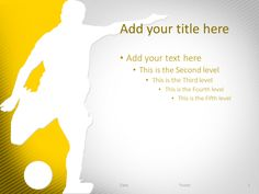 Golf Powerpoint Template Red  Sport Powerpoint Templates