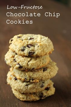 Low-Fructose Chocolate Chip Cookies