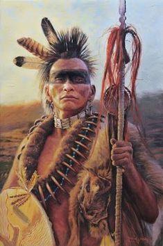 """Pawnee warrior"" painting by David Yorke"
