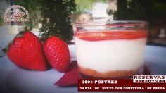 vamos a empezar la semana de dulce ¿Qué te parece si empezamos este lunes con Tarta  de  queso con confitura  de fresa y base de galleta? ¿ apetece?  Reservas 968607244