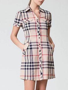 Simple Dresses, Cute Dresses, Casual Dresses, Short Dresses, Kurta Designs Women, Blouse Designs, Modest Fashion, Fashion Dresses, Check Dress