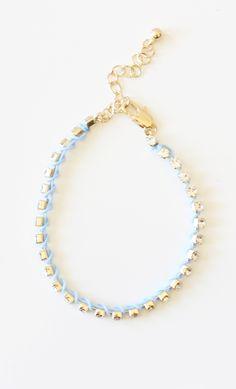#threaded #crystal #bracelet #blue #publik #shoppublik www.shoppublik.com
